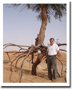Tim Rundle at a conservation site, UAE